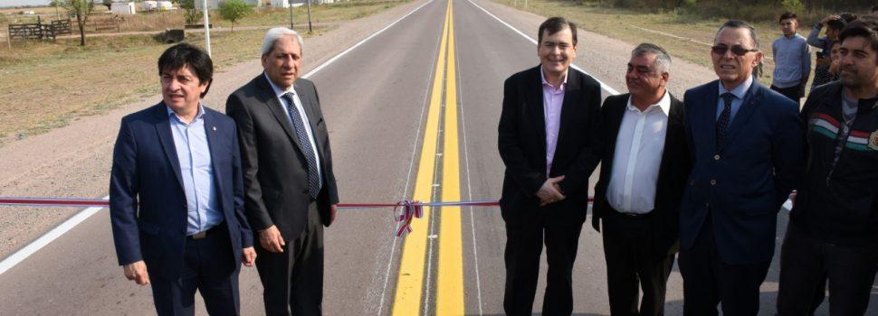 La reconstrucción de la ruta provincial  N° 130 fue inaugurada por el Gobernador