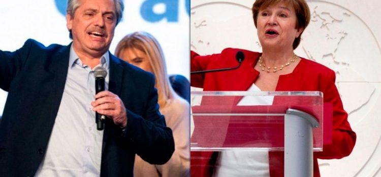 Alberto Fernández habló con Georgieva y le propuso pagar al FMI, pero «sin ajuste»