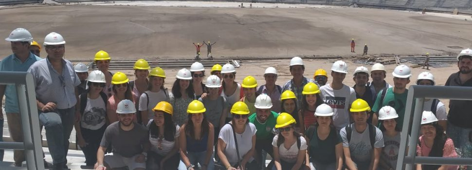 Una delegación de la Facultad de Arquitectura  y Urbanismo de Tucumán visitó el Estadio Único