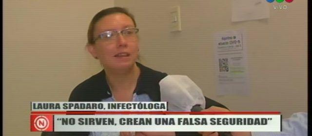 """Los barbijos caseros """"no sirven"""" y el uso de guantes crea """"una falsa seguridad"""""""
