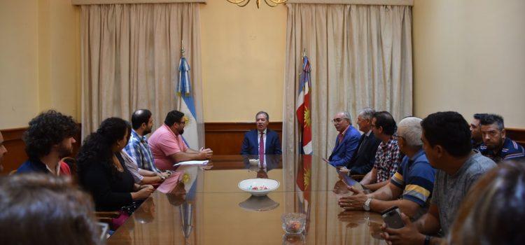 El jefe de gabinete recibió a integrantes  del Comité Olímpico de Vialidad Nacional