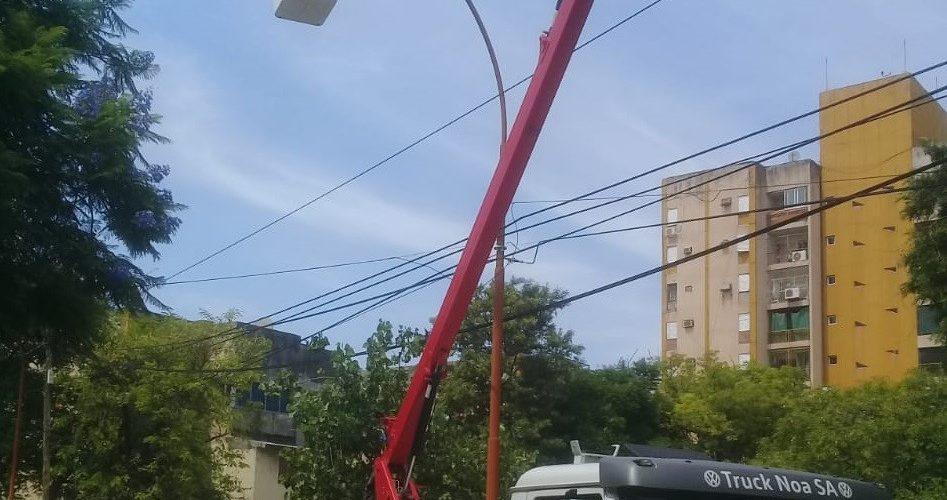 La Municipalidad de la Capital organizó guardias especiales de Electricidad para el alumbrado público