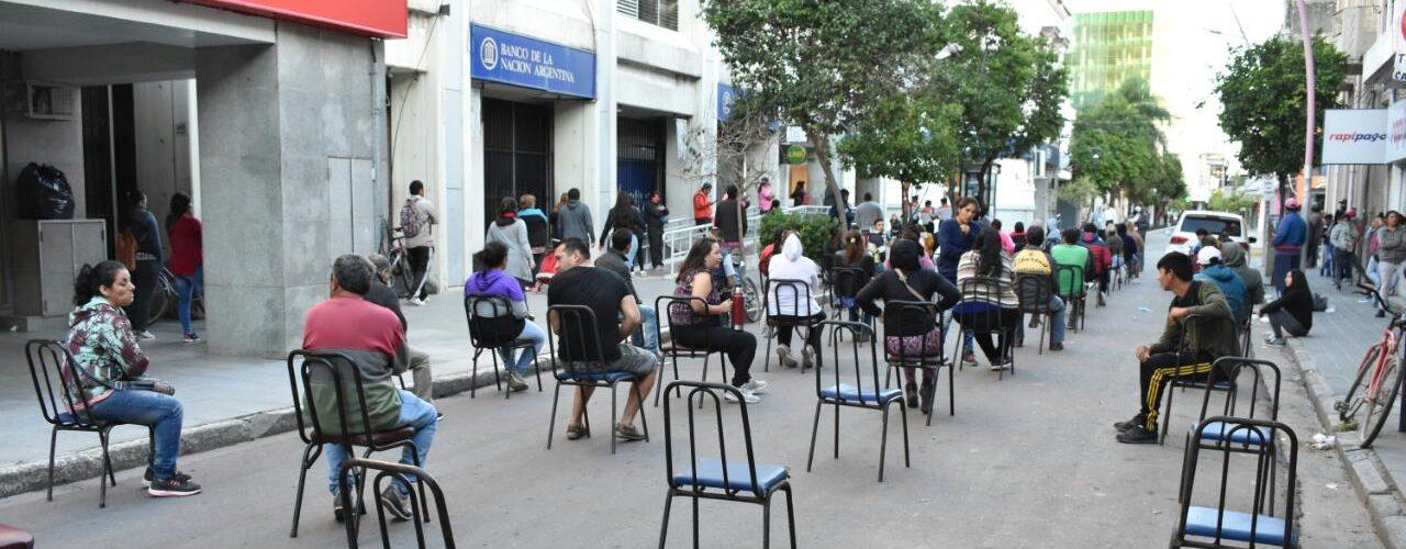 Operativo para evitar aglomeraciones en la zona de los bancos, continuará hasta el martes