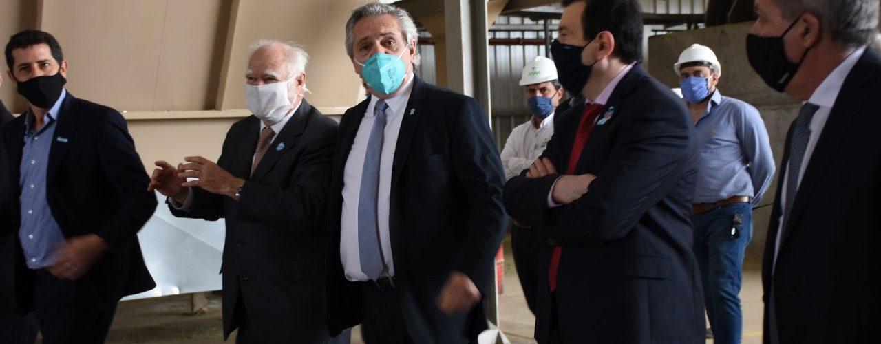 Gobernador y presidente inauguraron  la planta Mega Alfalfa Argentina S.A.