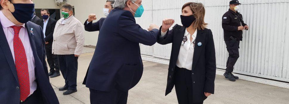Ing. Norma Fuentes, agradeció la visita del Presidente Alberto Fernández