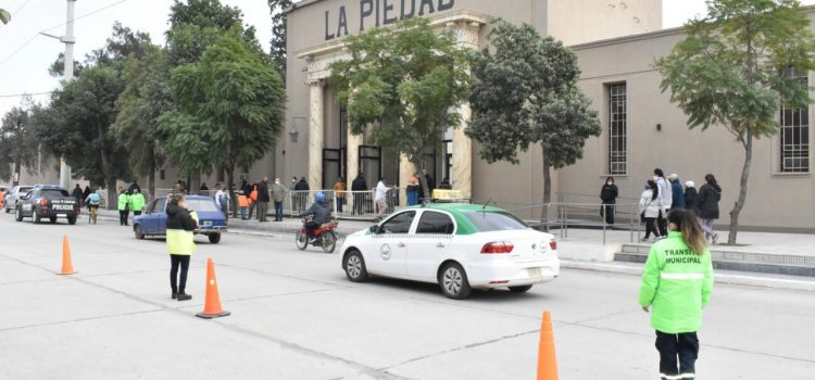 La Municipalidad mantuvo las condiciones de bioseguridad para los concurrentes al cementerio La Piedad
