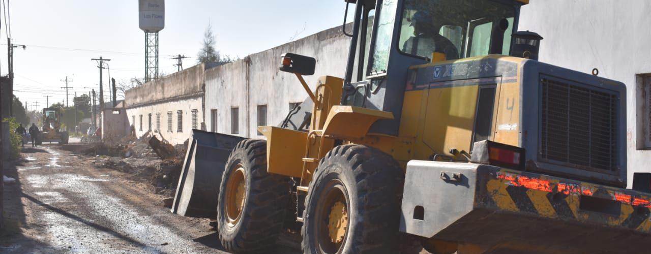 La Municipalidad trabaja en un acceso al barrio Los Flores