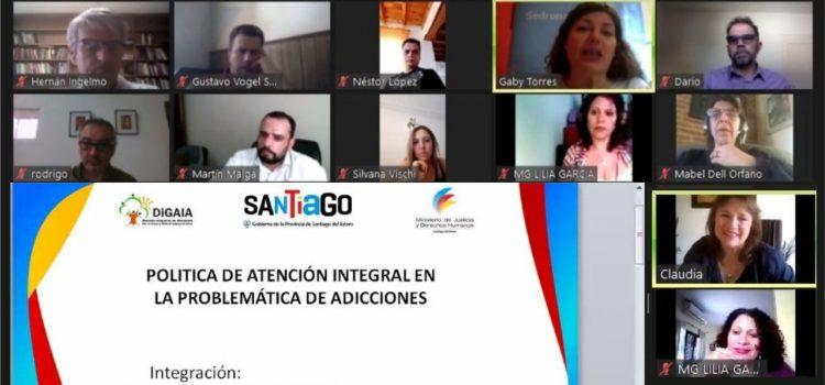 Santiago presente en la convocatoria Sedronar  Federal: reunión virtual del Consejo Federal de Drogas
