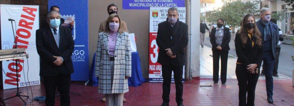 La intendente Norma Fuentes presidió la conmemoración por el 83 aniversario de la Dirección de Rentas