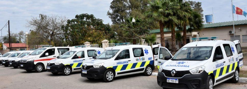 Entrega de ambulancias y reunión con  directores de hospitales zonales
